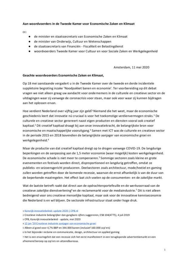 thumbnail of Brief-Taskforce-Culturele-en-Creatieve-Sector-11-mei-tbv-Kamerdebat-EZK-18-mei-2020-2